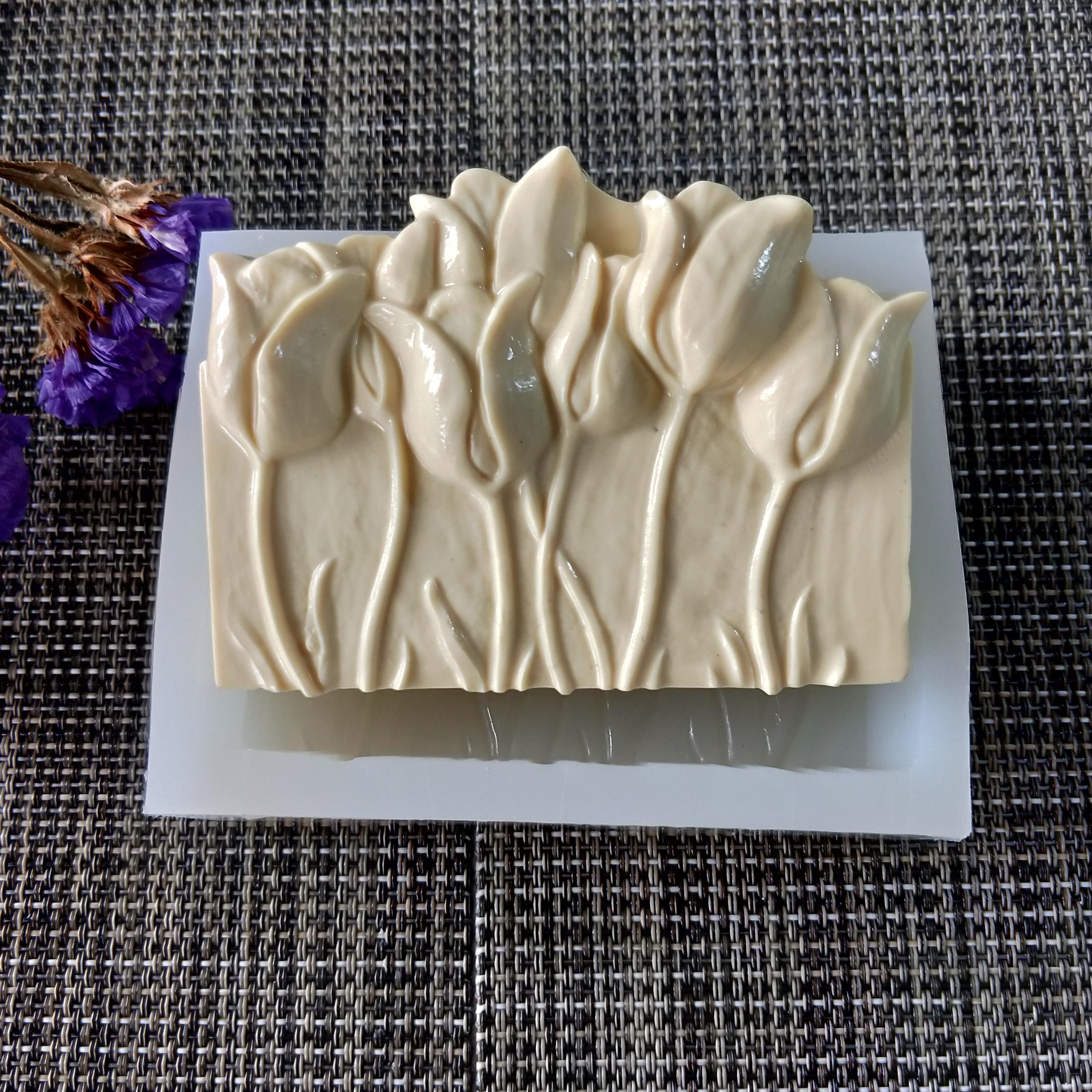 PRZY Mehrere tulip blumen silikon form seife blume handgemachte seife mold kerze silikon form DIY handgemachte seife form