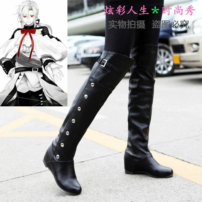 شحن مجاني أنيمي أواري لا سيراب من نهاية فيريد باثوري Hyakuya ميكايرا ميكايلا تأثيري أحذية أحذية مخصصة هالوين