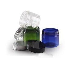 5pcs 50g PET jar Wide mouth bottle (with inner lid) Aluminum cover cream bottle Plastic cream box Cosmetic bottling BQ035