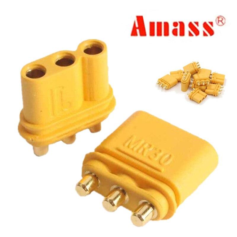 100 par/lote Amass MR30PB conector hembra y macho 30% de descuento