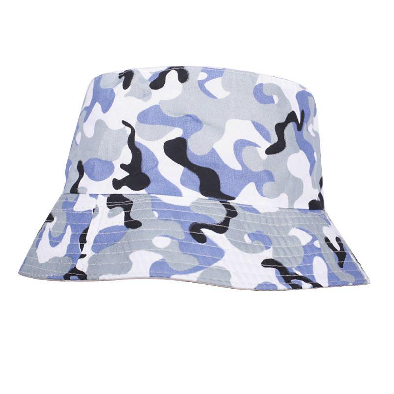 Men Women Bucket Hat Travel Fishing Cap Unisex Summer Beach Hats Solid Color Flat Fisherman Caps
