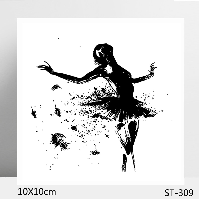 AZSG Charming Ballet Dancer Clear Stamps/Seals For DIY Scrapbooking/Card Making/Album Decorative Silicone Stamp Crafts