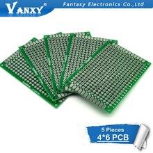 5 pièces 4x6cm 4*6 Double face Prototype PCB bricolage universel Circuit imprimé