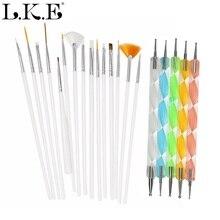 LKE outil pour Nail Art Kit pour UV Gel vernis à ongles pointillé peinture dessin pinceaux stylo ongles Art décoration manucure conception outils