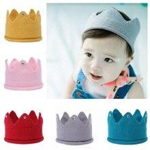 Bandeau couronne Crochet pour bébés   Chapeau pour petits garçons et filles, accessoires de coiffure pour petits enfants, accessoires Photo HB101 1 pièce