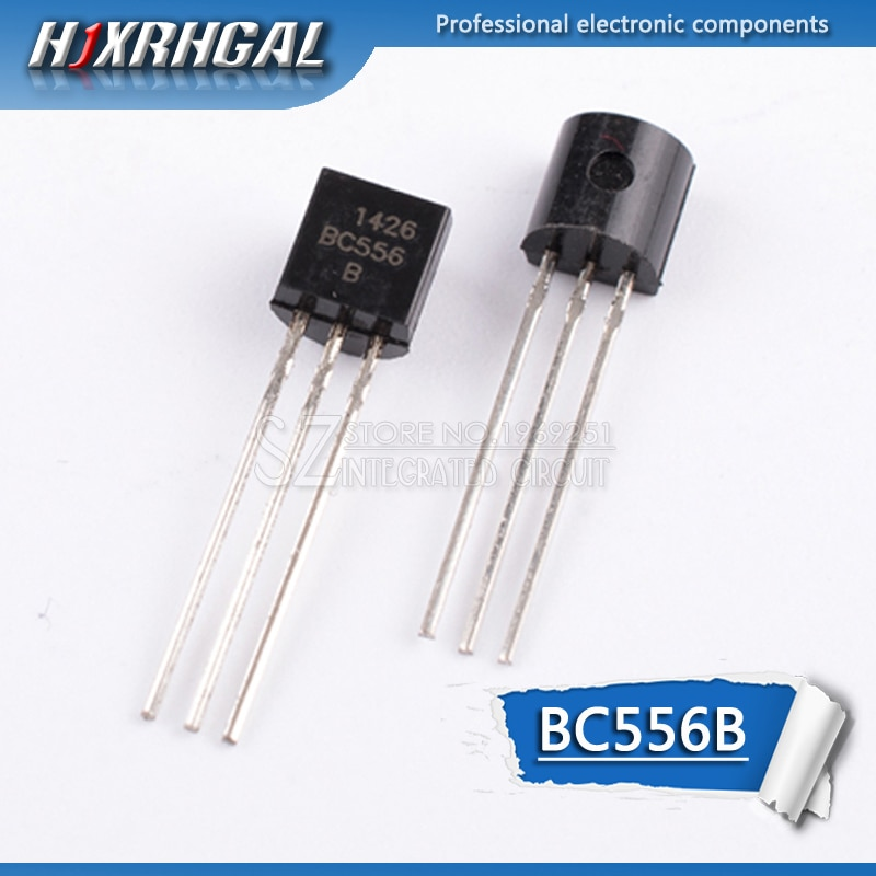 100 Uds BC556B a 92 BC556 TO92 NPN de propósito general transistor