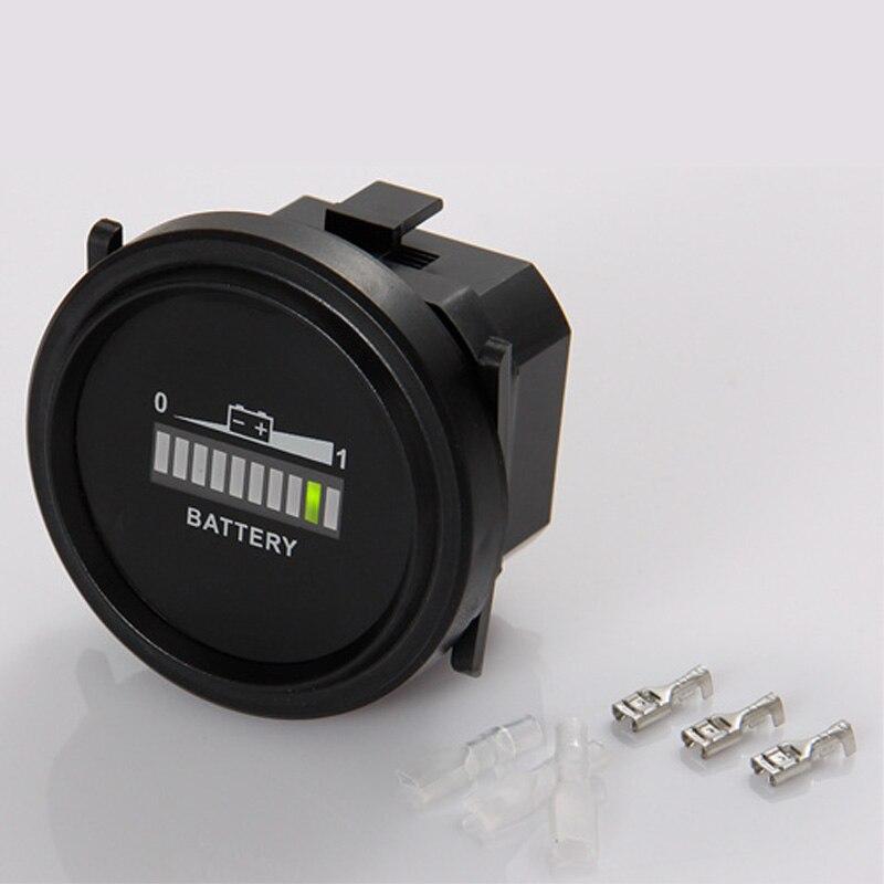 Indicador de batería redonda de plomo y ácido, medidor de descarga de 12,72v utilizado para carrito de Golf, camión, coche, barco, carretilla elevadora, Pit Bike, Envío Gratis