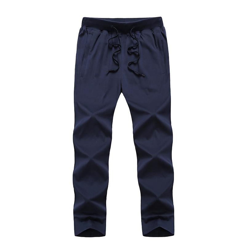 Pantalones de chándal finos de algodón de talla grande 8XL 9XL para hombre, pantalones holgados informales de verano para hombre, de gran bolsillo, transpirables, liso elástico, pantalones holgados para correr