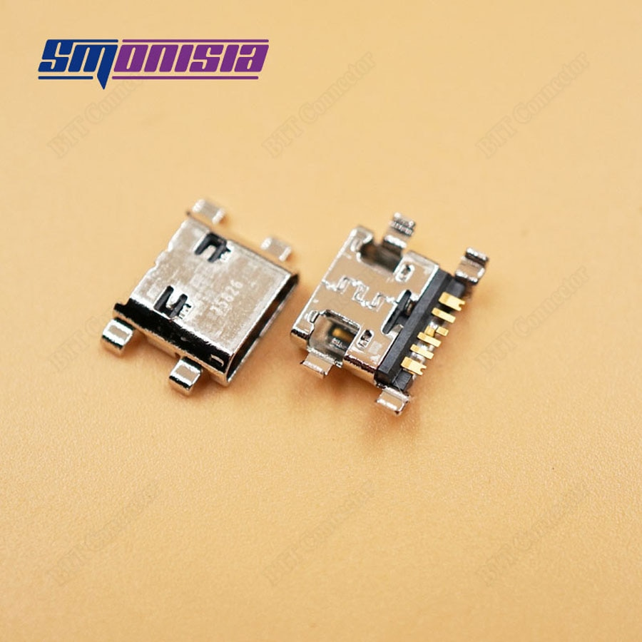 Smonisia 5pcs Original Charging Charger Port Micro USB Connector Jack for Samsung I8160