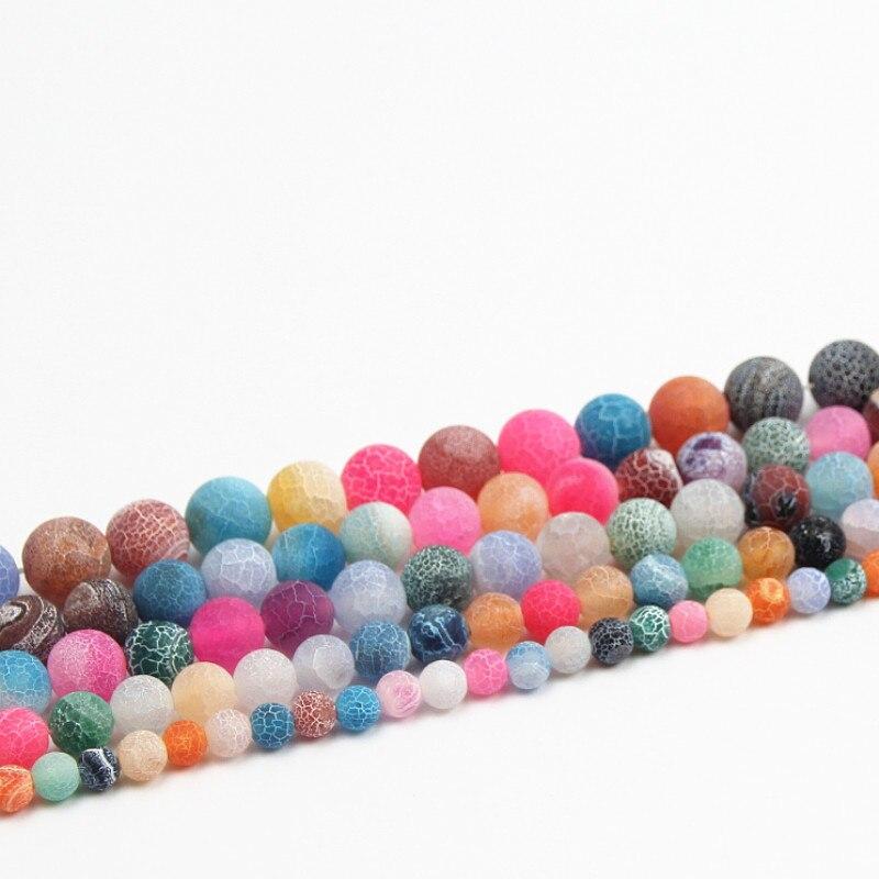 6/8/10mm Dream Fire Dragon Vets ágata Onix cuentas para hacer joyas hechas a mano DIY cuentas de piedra Natural collar pulseras