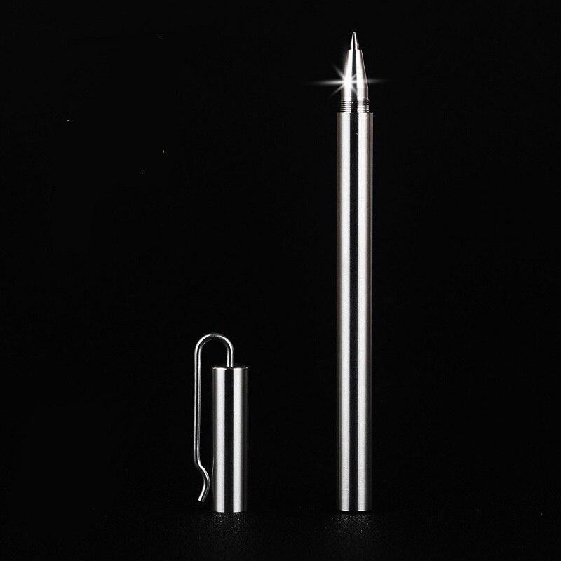 clip type high quality stainless steel pen signature metal pen handmade 0.5mm wholesale 5pcs/lot