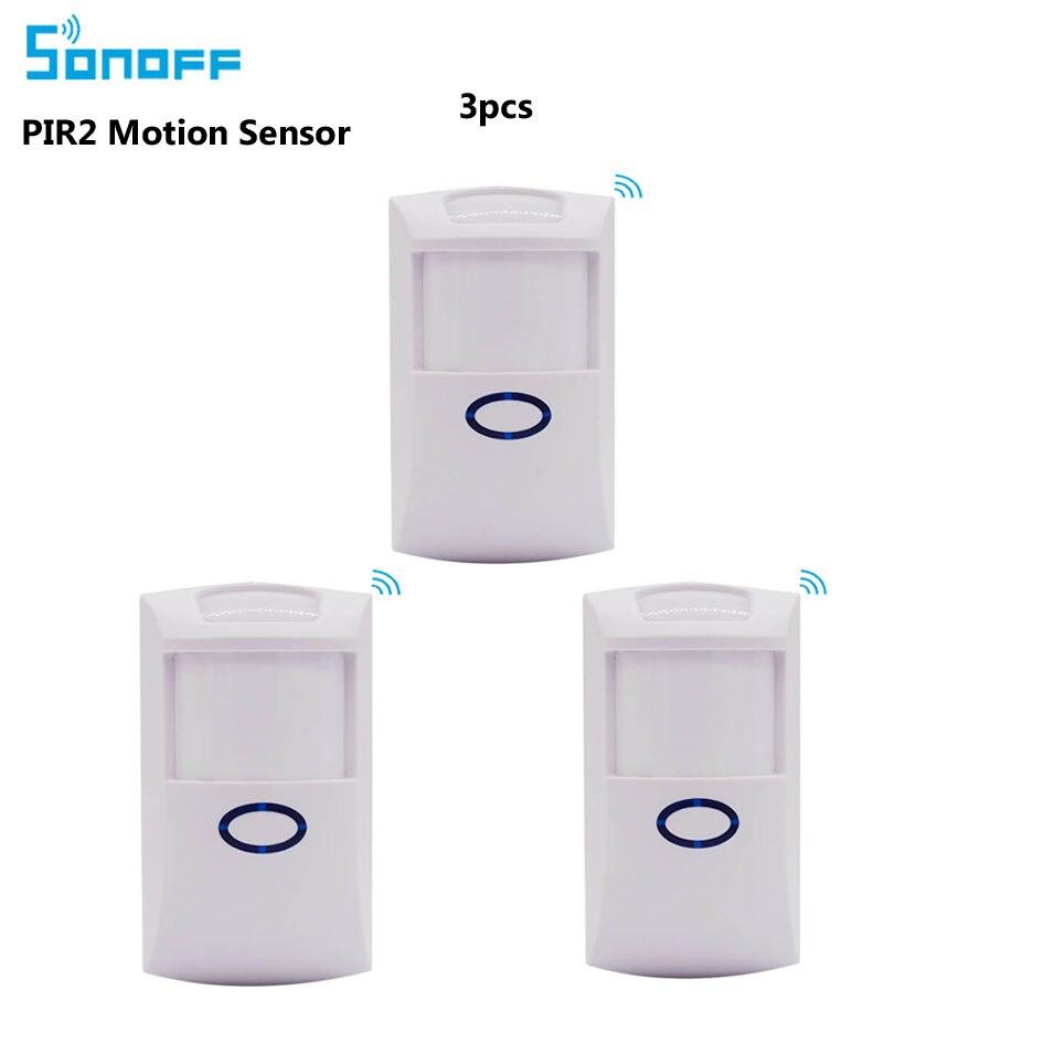 3 шт. Sonoff PIR2 PIR беспроводной пассивный инфракрасный детектор Противоугонная сигнализация умная домашняя система безопасности работает с sonoff rf bridge