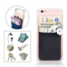 Creative élastique Lycra cellule porte-carte téléphone portefeuille étui femmes hommes affaires porte-carte didentité de crédit porte-carte poche bâton 3M adhésif