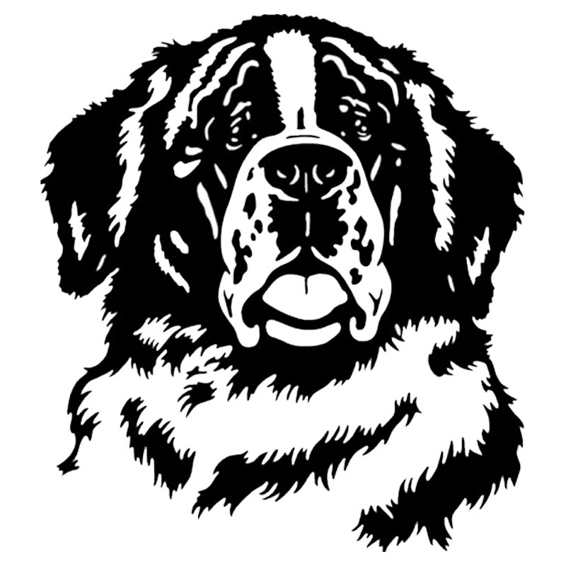 20.7*22.9CM ST Bernard Dog Vinyl Decal Art Creative Car Stickers Car Styling Truck Decoration Black/Silver S1-1045