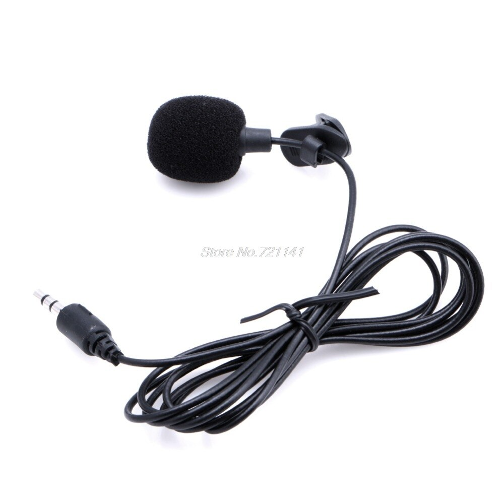 1 PC Mini Hands Free Clip On Lapel Microphone Mic For PC Notebook Laptop Skype 3.5mm Dropship