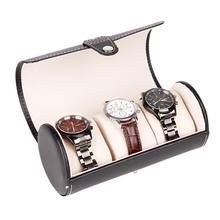 3 fentes boîte de montre étui de voyage poignet rouleau bijoux stockage collecteur organisateur