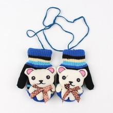Gants pour enfants   Nouveaux gants ours pour bébés, gants chauds pour garçons et filles, mitaines adorables en Crochet, gants dautomne et dhiver, accessoires pour bébés