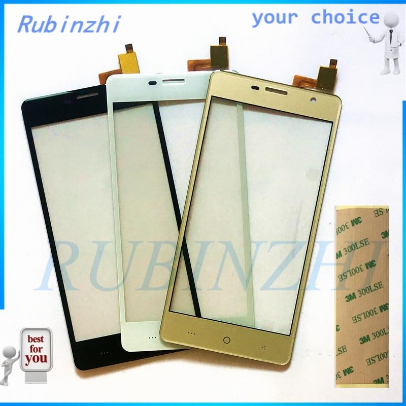 RUBINZHI Freies 3 M Klebeband Handy Touch Panel Screen Digitizer Glas Panel Outer Objektiv Sensor Für DEXP Ixion ES950 touchscreen