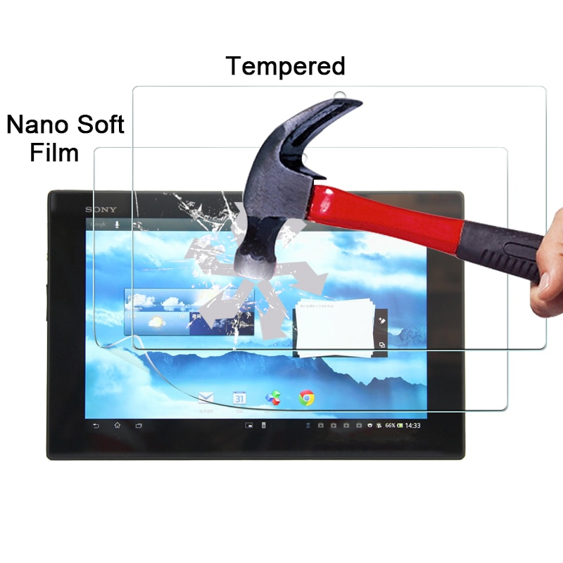 "Para Sony Tablet Xperia Z SGP341 10,1 ""a prueba de explosión Nano de película en stock Anti-rotura películas protectoras de pantalla"