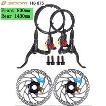 ZOOM HB-875 vtt vélo frein hydraulique vélo de montagne frein à disque gauche et droite levier avec ensemble de rotor PK SHIMANO MT200 accessoires