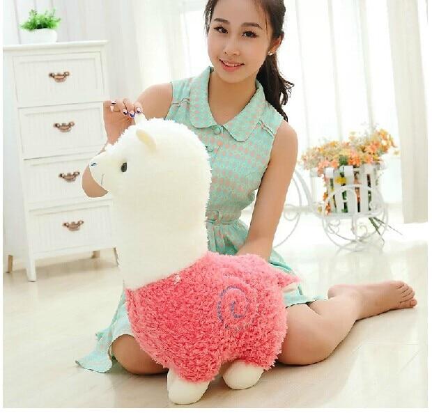 Adorável big brinquedo de pelúcia ovelhas criativo Deus besta boneca nova rosa alpaca brinquedo de presente cerca de 50 cm