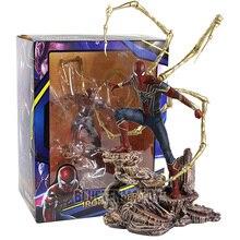 Juguetes calientes Los vengadores de Marvel figuras de acción del superhéroe Spiderman figura de Hombre Araña de PVC juguetes de modelos coleccionables regalo para niños