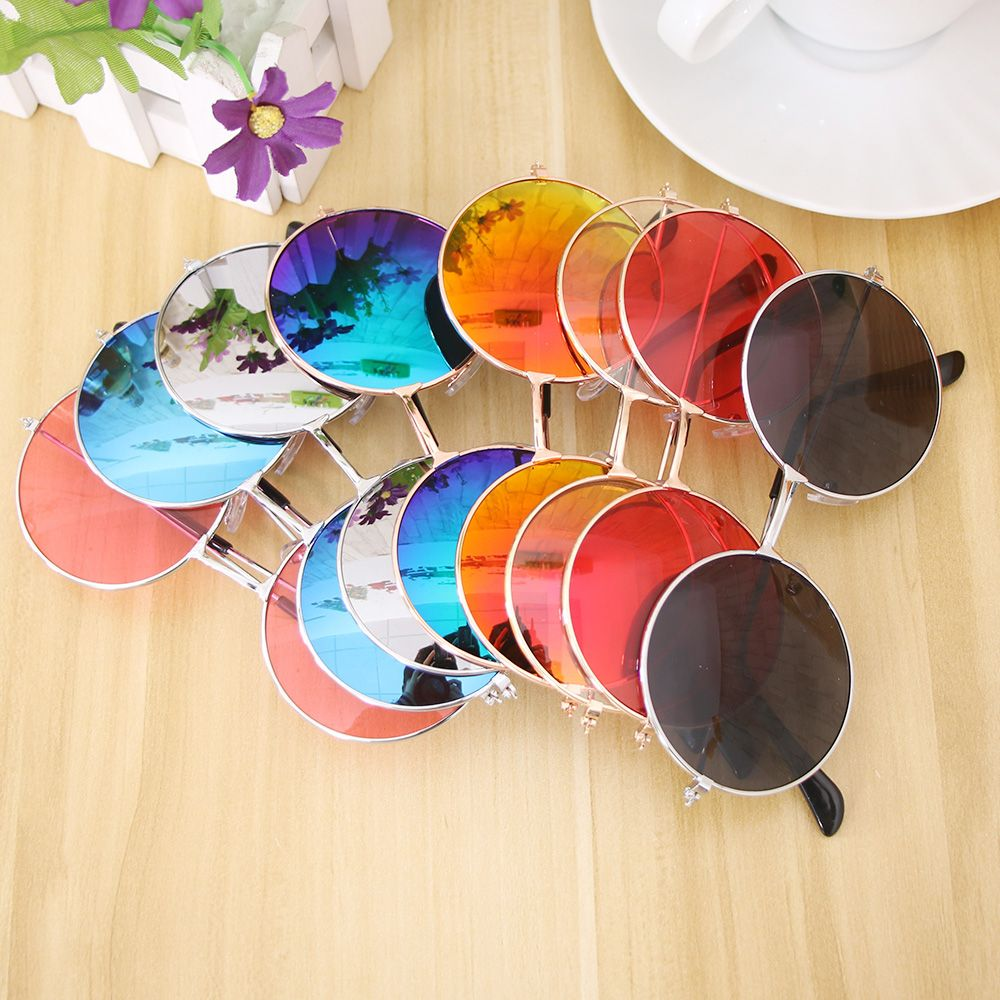 Retro Round Sunglasses Women Brand Designer Sun Glasses For Women Alloy Mirror Sunglasses female Eye