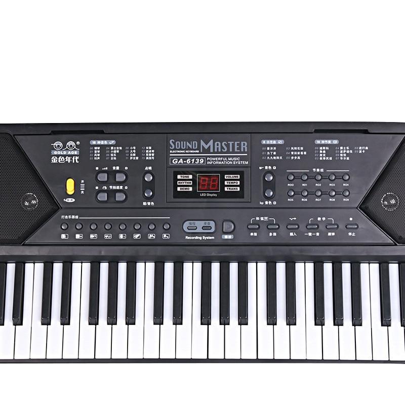 61 Keys Digital Musical KeyBoard Piano Electronic Key board Organ With Microphone Accessories For Beginner enlarge