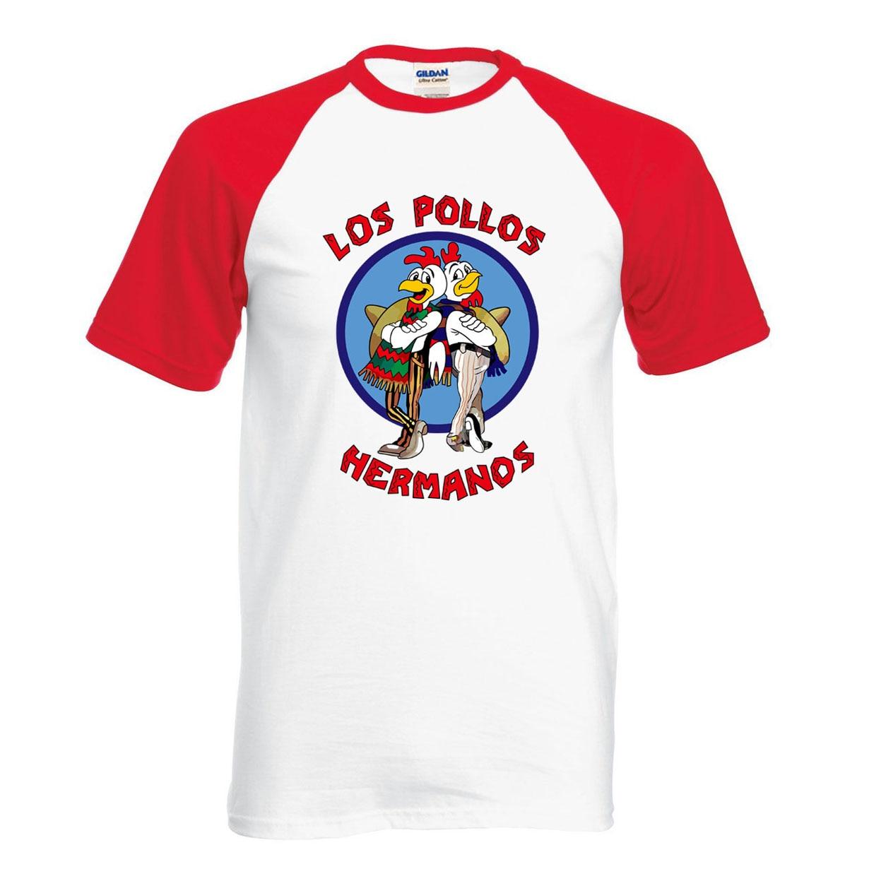 Футболка Breaking Bad LOS POLLOS Hermanos, летняя 100% хлопковая модная футболка-реглан для фанатов, 2019
