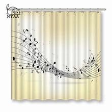 NYAA rideaux de douche en tissu Polyester   Pour guitare, rideaux de bain imperméables pour musique, décoration de la maison