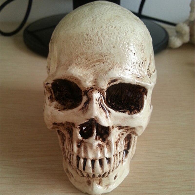 P-flame Otaru accesorios de decoración Halloween realista calavera de terror escultura de resina decoración del hogar artesanías