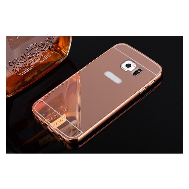 Do Samsung Galaxy S8 S9 Plus S6 S7 S4 J3 J5 J7 2016 A7 A5 2017 J2 Prime obudowa lustrzana aluminium Metal lustro pc tylna pokrywa Capa