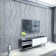 Современные минималистичные модные нетканые обои в рулонах с 3D тиснением, полосатая настенная бумага для гостиной, ТВ, дивана, фоновая стен...