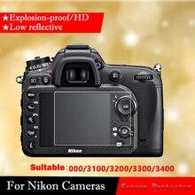 Original protector de pantalla de vidrio templado para Nikon D3000 D3100 D3200 D3300 D3400 Cámara película de vidrio templado HD película protectora