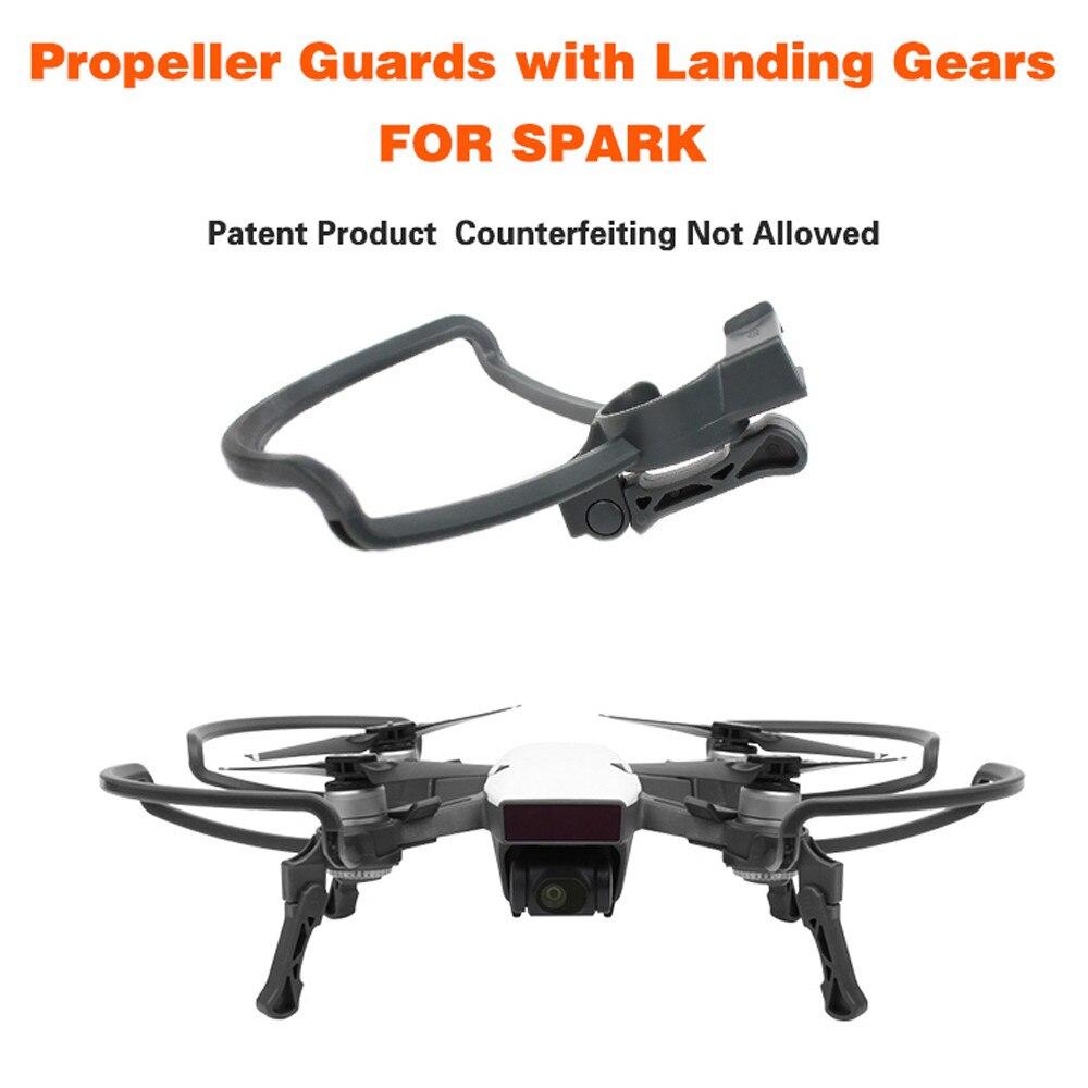 Hélices de Dron protectores de cuchillas + extender las patas de aterrizaje equipo de protección para DJI SPARK Drone RC accesorios 0J Drop shipping