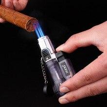 Torche Turbo allume-cigare Jet Butane   Briquet à gaz Cigarette 1300 C pistolet de pulvérisation 3 briquet coupe-vent
