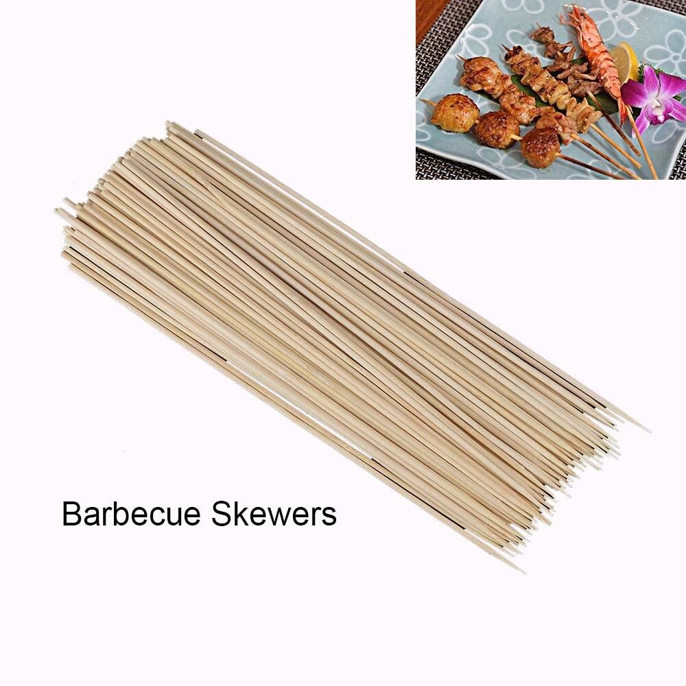 100 ⑤ упак. аксессуары для барбекю из натурального дерева бамбуковые палочки