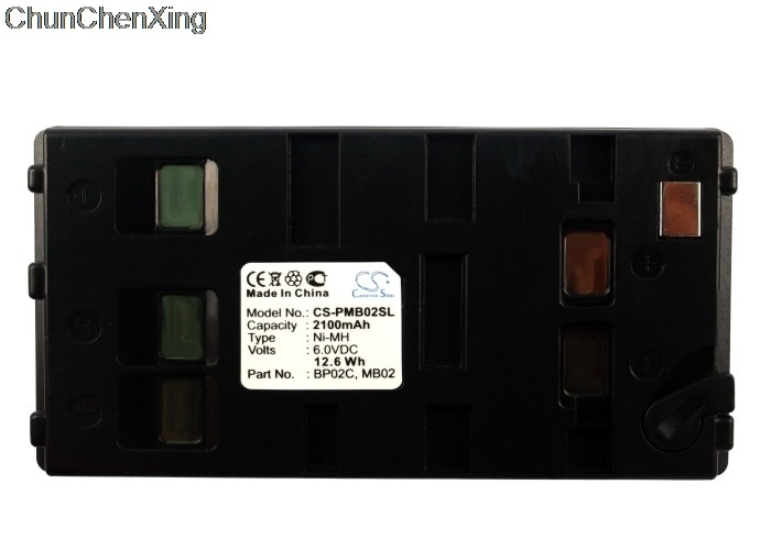 Cameron sino 2100 mah bateria bp02c, mb02 para pentax r100, R-100X, r200, R-200X, R-202N, r225n, r300, R-300X, R-322NX, R-325NXM, r800
