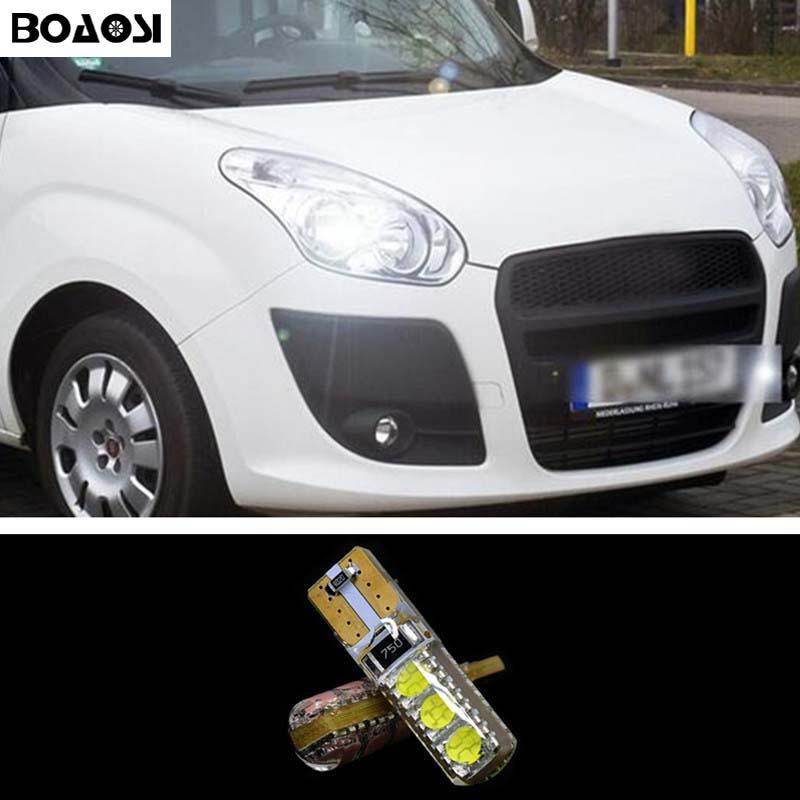 BOAOSI 2x T10 W5W 5050SMD Error Free LED Canbus de luz para FIAT 500 Punto Stilo Palio Freemont Bravo Ducato Doblo