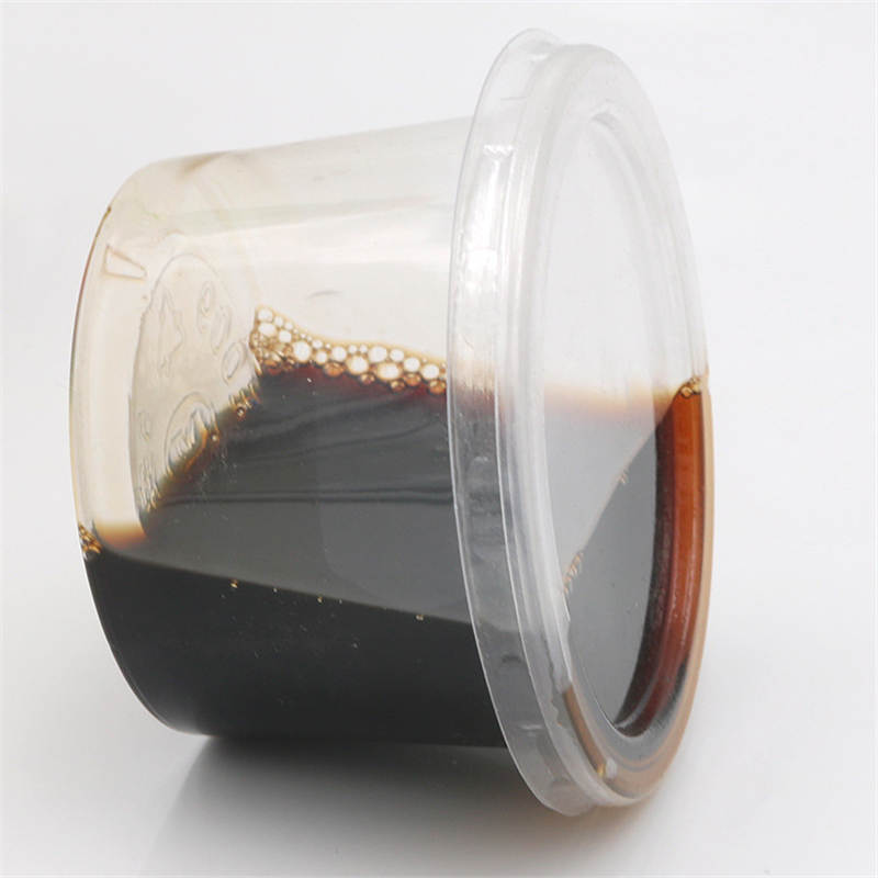 Doreenbeads plástico descartável tigela transparente com tampa yogur sushi molho vinagre copo armazenamento 150ml casa ao ar livre 10 unidades/pacote