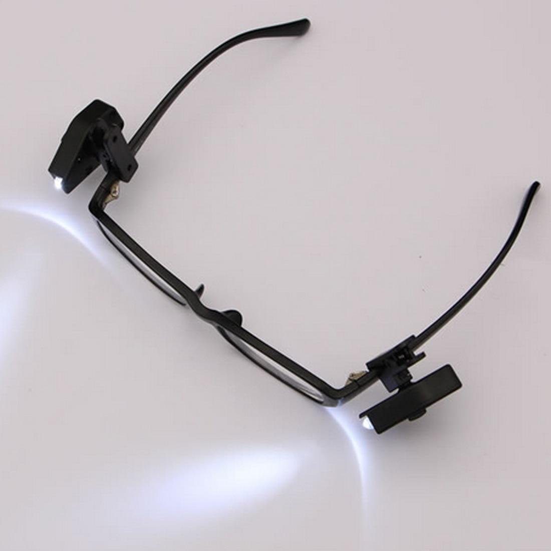 2 pçs livro flexível luzes de leitura luz da noite para óculos e ferramentas mini clipe de óculos led universal portátil