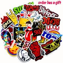 Autocollants Cool 52 pièces/nombreux classique célèbre groupe de rock punk musique autocollants valise skateboard ordinateur portable vélo imperméable autocollants