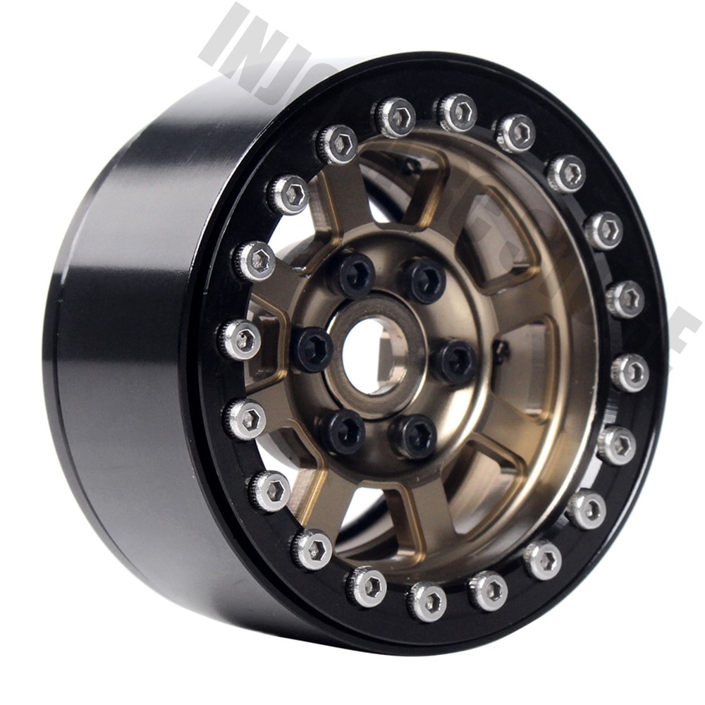 Metal 1.9 Inch RC Crawler Wheel Rim BEADLOCK for Axial SCX10 90046 AXI03007 D90 1/10 RC Crawler Wheel Hub