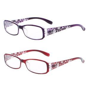 Женские весенние очки для чтения с цветочным принтом, пресбиопические + 1,0 ~ + 4,0