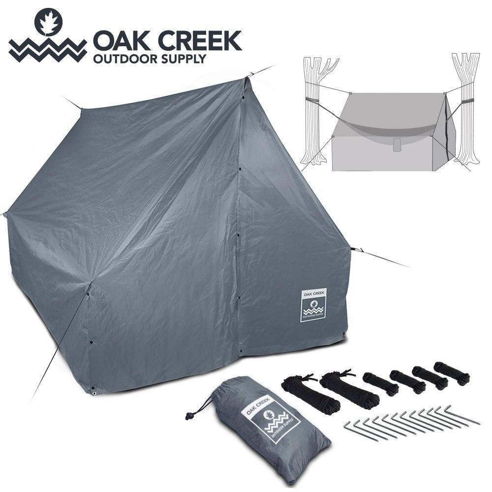 Venda quente CZX-162 Barraca de Lona de Acampamento Ao Ar Livre À Prova D Água, UM Tipo de Personagem Rainfly Barraca, Toldo Tarp, mosca da chuva Lona, tenda árvore