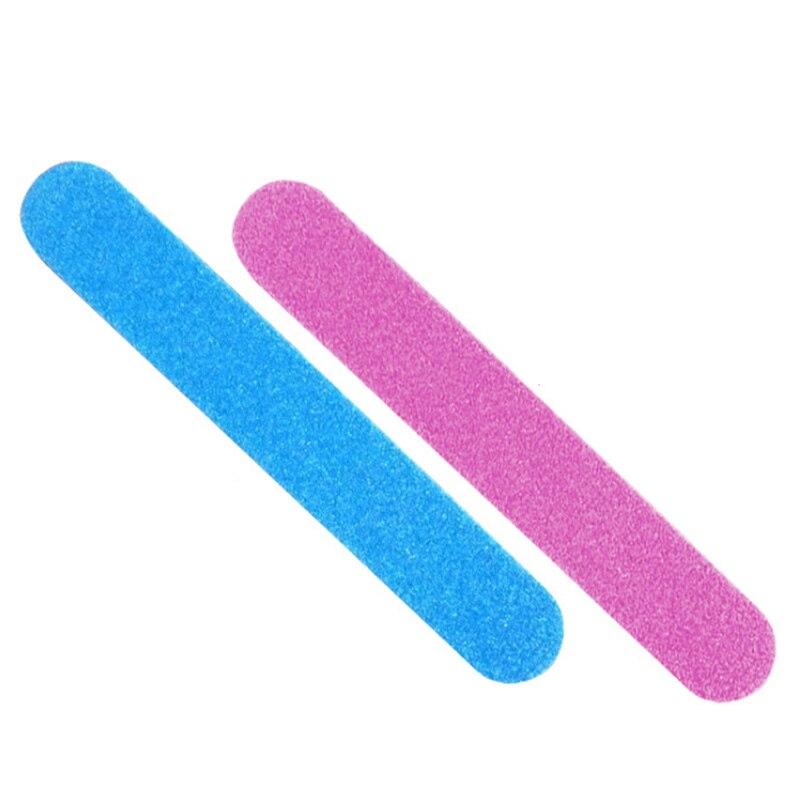 5 uds limas de uñas y lija de madera pulidoras de uñas artificiales de grano Delgado herramientas desechables removedor de cutículas callos Lima de doble cara