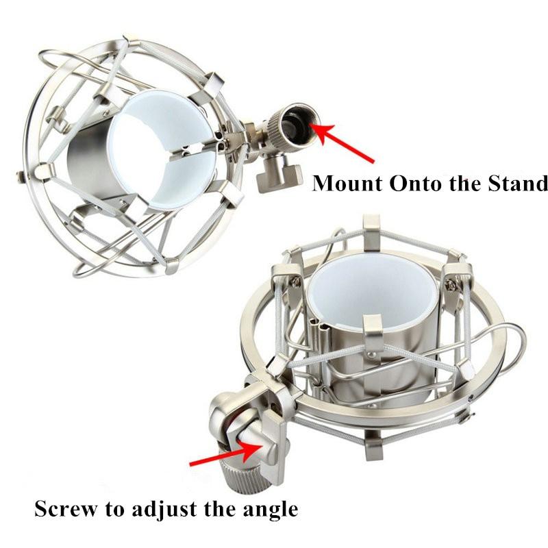 Metal Shockmonut Studio Recording Microphone Shock Mount Spider Mic Holder Clip For Broadcast Computer BM 700 800 BM-800 BM-700 enlarge