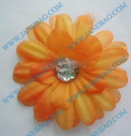 "free shipping 120pcs/lot wholesale  2"" small little daisy flower clip christmas flower hair clips gerbera clip interchangeable"