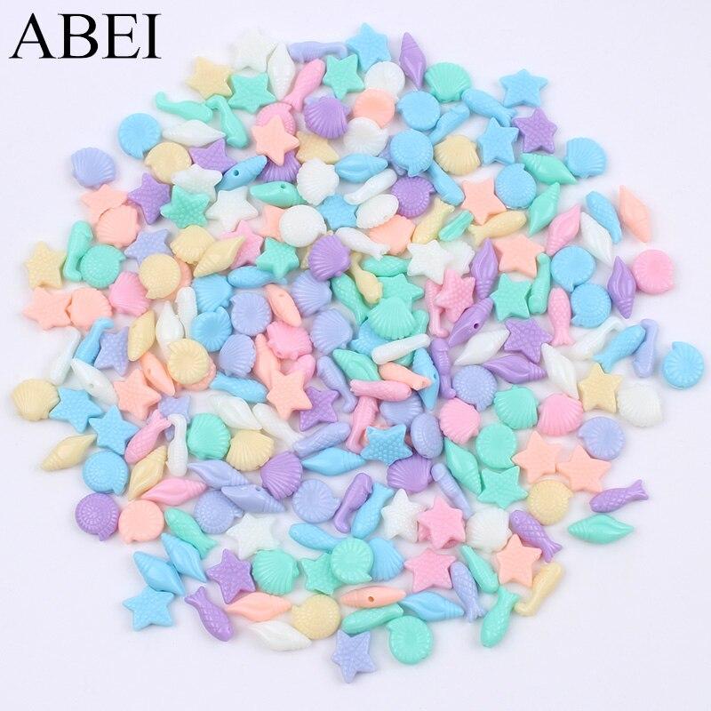 100 штук разных стилей случайных цветов смолы Мультяшные кнопки пластиковые океана пуговицы с животными ручной работы для самостоятельного ...