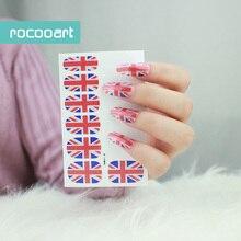 Y5182 écologique à la mode auto-adhésif Nail Art décalcomanies manucure complète ongles enveloppes autocollant National britannique drapeau ongles autocollants